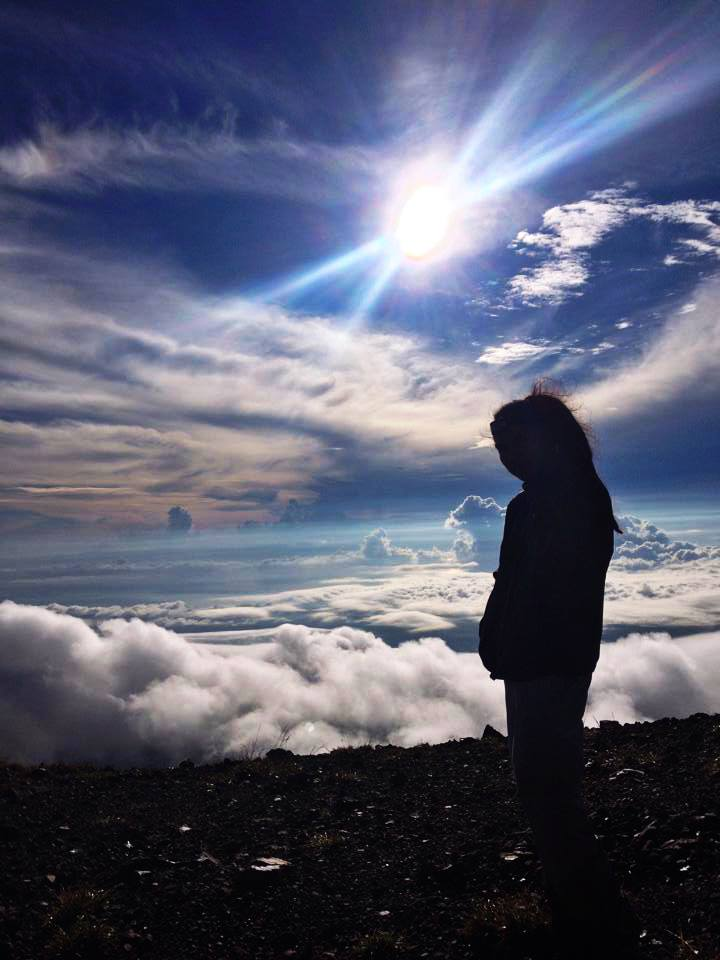 Me at Mt. Kanlaon Summit enjoying the Sea of clouds